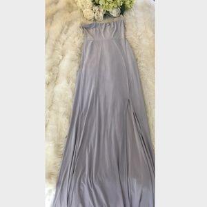 NEW! Missguided Women's Gray Strapless Slit Dress